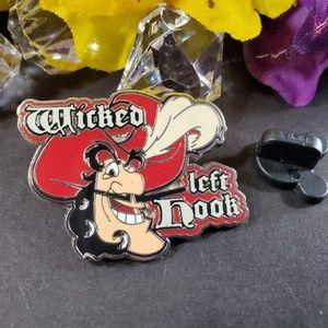 4/$25 Disney Captain Hook, Wicked Let Hook Pin